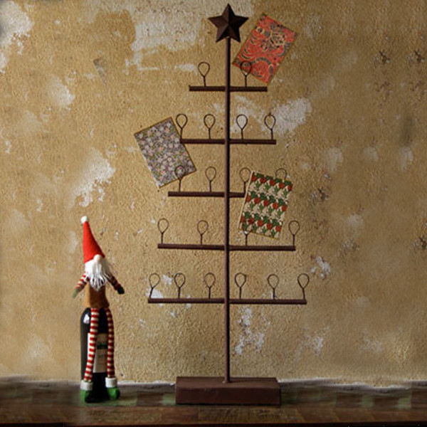 Rustic Tree Card Holder - Rustic - Holiday Accents And ...