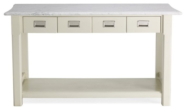 White Portable Kitchen Island