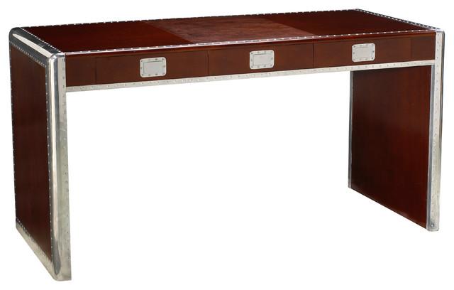 Ferault Desk, Dark Cherry & Burgundy - Modern - Desks - by French Heritage