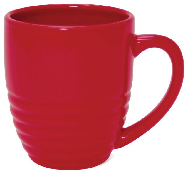 Chantal Ring Mug True Red 20 Oz