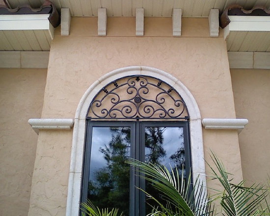 Wrought Iron Ideas - Custom Wrought Iron window arch panel.Solid