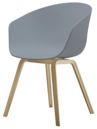 hay aac22 bucket seat gray contemporary dining chairs