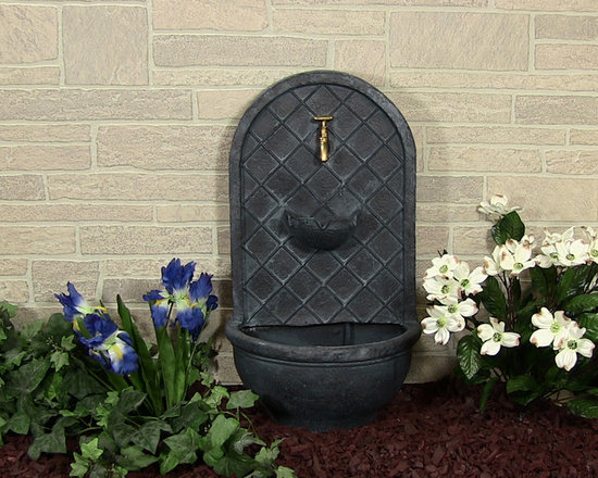 Outdoor Classics - Messina Outdoor Wall Fountain - If you're going for a cozy Mediterranean look to your outdoor area, this wall fountain fits the bill.  Truly a great accessory with nice texture and style.