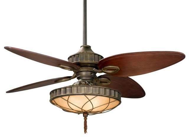 Tropical Ceiling Fans : Three light bronze ceiling fan tropical fans