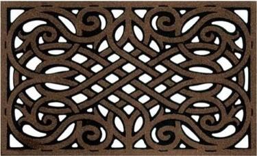 CleanScrape 60-951-1418-01800030 Wrought Iron Doormat - Coffee - 18 x 30 in. modern-doormats