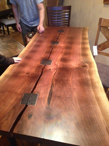 LIVE EDGE BLACK WALNUT SLAB TABLE WOOD HARVEST TABLE