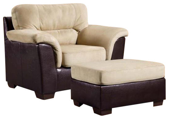 Chelsea home annabelle chair and ottoman in laredo mocha for Annabelle chaise