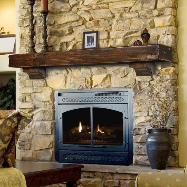 Fireplace mantels craftsman fireplace mantels for Craftsman fireplace pictures