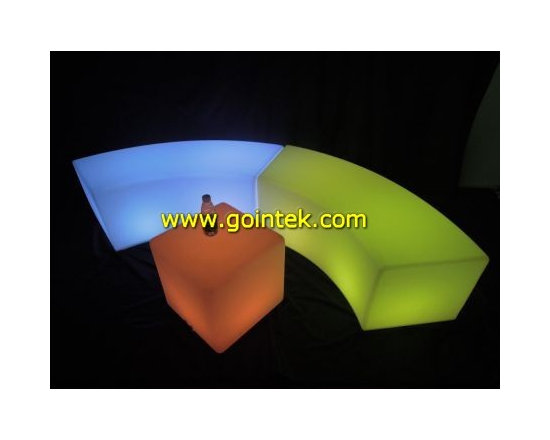 2013 New LED Light bench chairs for events -