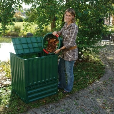 Eco King 105 Gallons Recycled Plastic Compost Bin - Green - Modern - Trash Cans - by Hayneedle