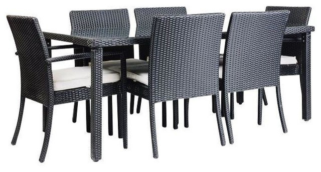 Consigned Modani Outdoor Coronado Dining Set Contemporary Dining Tables