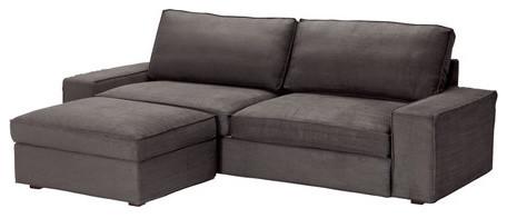 KIVIK Sofa Bed With Footstool Scandinavian Sleeper