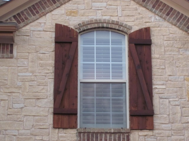 custom wood exterior shutters dallas by texas best fence ForBest Wood For Exterior Shutters