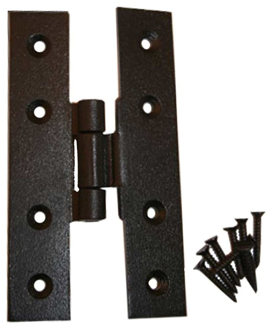"Cabinet Hinges Black Wrought Iron H Door Hinge 4"" H x 3/8"" Offset - Modern - Hinges - by The ..."