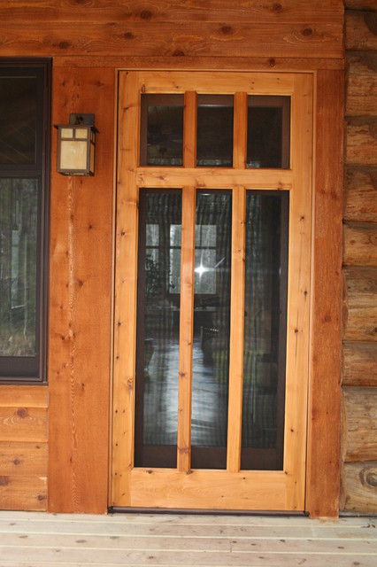 custom wood screen door traditional screen doors