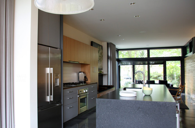 Top of the Hill Retreat modern-kitchen