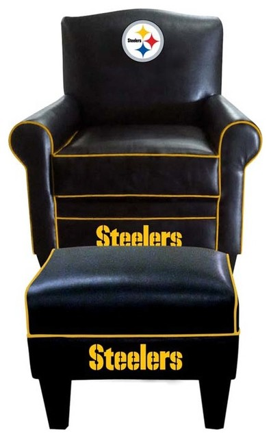 Pittsburgh Steelers Nfl Game Time Chair Ottoman Modern Game Room And Bar Furniture By