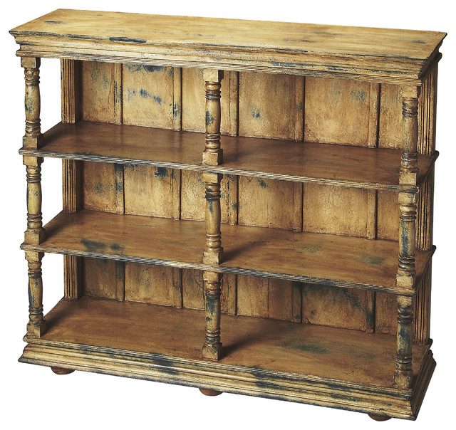 Newbery Solid Wood Bookcase - Rustic - Bookcases - by Butler Specialty Company