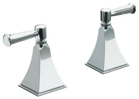 KOHLER K-T467-4S-CP Memoirs Stately Bath- or Deck-Mount High-Flow Bath Valve Tri traditional-bathroom-faucets-and-showerheads