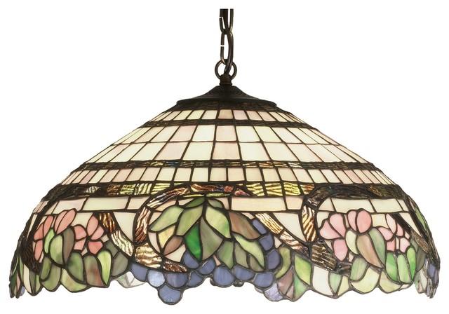 Meyda Tiffany Handel Grapevine Tiffany Pendant Light X-67123 contemporary-pendant-lighting