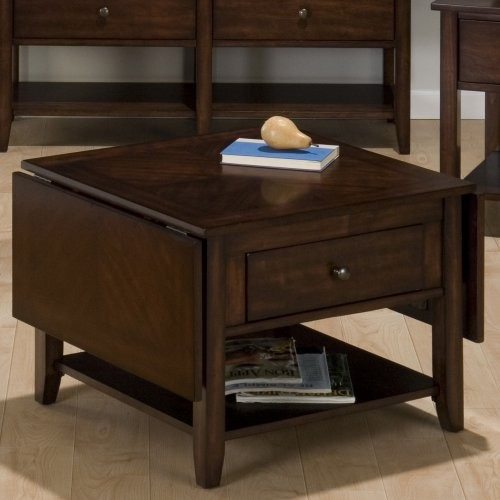The Jofran Rectangle Newport Cherry Wood Drop Leaf Coffee Table is one cool cham traditional coffee tables