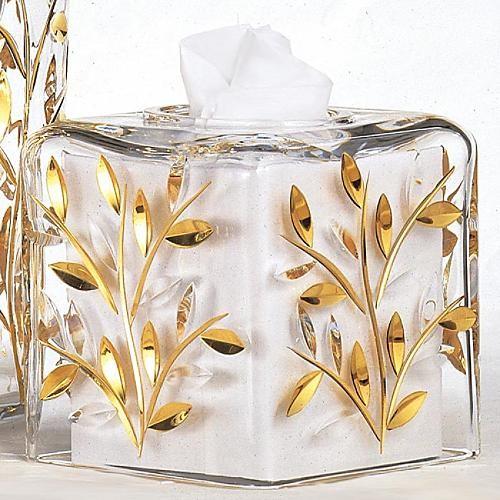 White Vine Tissue Cover traditional-bath-and-spa-accessories