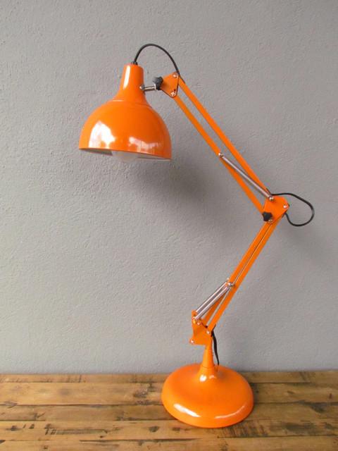 Orange Task Lamp Eclectic Desk Lamps