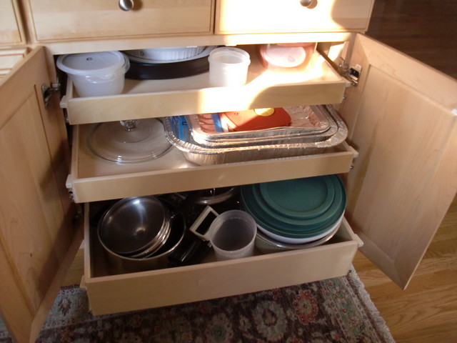 Custom Kitchen Slide Out Shelves - Kitchen Drawer Organizers - boston - by ShelfGenie of ...