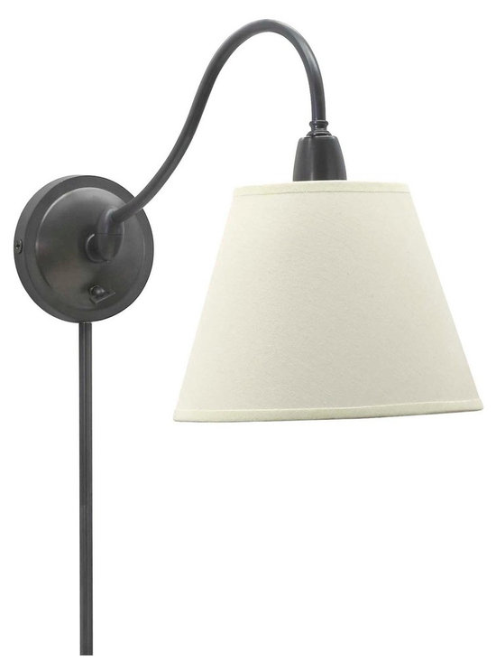 House of Troy Hyde Park Wall Lamp Oil Rubbed Bronze w/White Linen Shade - House of Troy (Made in the USA) Hyde Park Wall Lamp Oil Rubbed Bronze w/White Linen Shade. Features Full Range Dimmer Switch. For more than 40 years, House of Troy has handcrafted Desk Lamps, Piano Lamps and Picture Lights in the great state of Vermont. House of Troy's reputation for craftsmanship, quality materials, and customer service make these items a value unsurpassed in the lighting industry.
