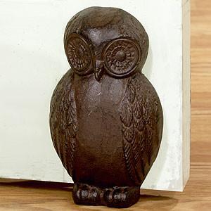 Cast Iron Owl Doorstop modern-outdoor-decor
