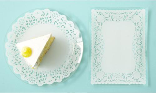 Lace Doily Glass Plates, Set of 4 modern-plates