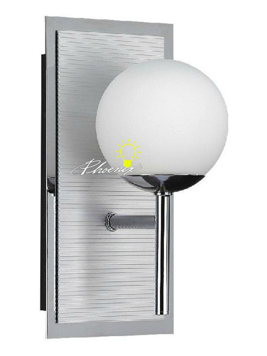 Modern Glass Ball Wall Sconce in Chrome Finish - Modern Glass Ball Wall Sconce in Chrome Finish