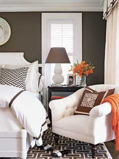 Graphic Pattern Guest Bedroom - MyHomeIdeas.com contemporary