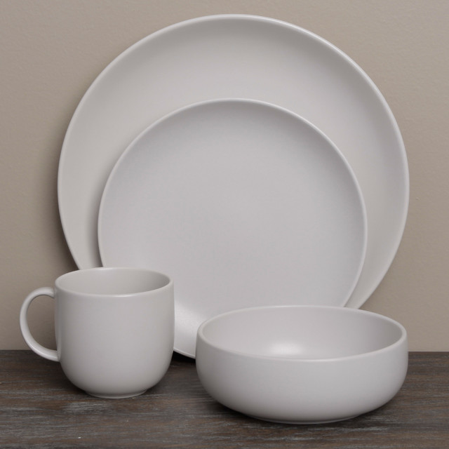 Royal Doulton Mode Putty 4-piece Place Setting contemporary-dinnerware-sets
