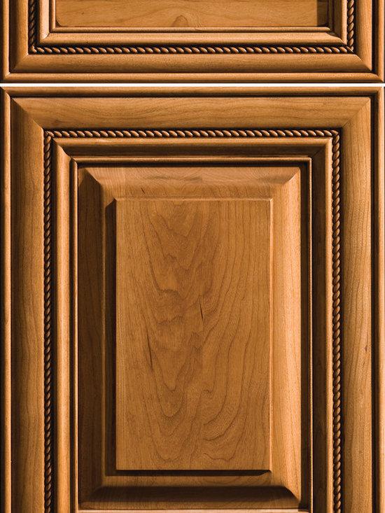 "Dura Supreme Cabinetry - Dura Supreme Cabinetry Waterton Cabinet Door Style - Dura Supreme Cabinetry ""Waterton"" cabinet door style in Cherry shown with Dura Supreme's ""Butternut"" with ""Coffee"" Glaze finish."