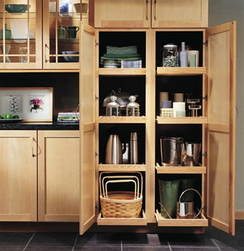 Utility Cabinets with Roll-Out Trays - Modern - Kitchen Cabinetry - other metro - by Merillat