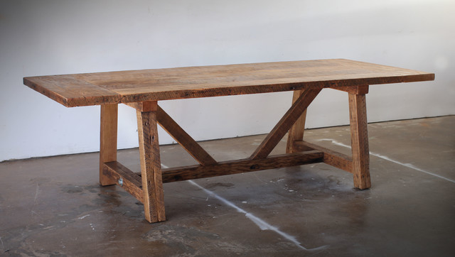 Reclaimed Wood Dining Table Beach Style Dining Tables