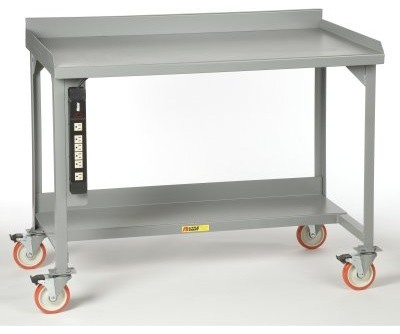Little Giant Mobile Welded Workbench with Backstop modern-baby-mobiles