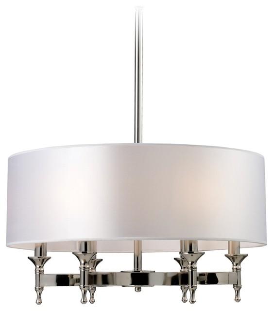 Pembroke 6 Light 24 Wide Polished Nickel Chandelier Contemporary Ch
