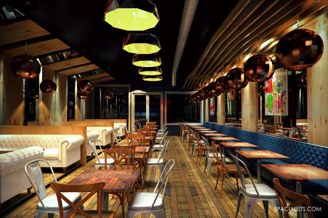 New restaurant design d visialisation contemporary