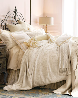 Pom Pom at Home Lisbeth Bed Linens Ruffle-Trimmed Linen Standard Sham traditional-sheets