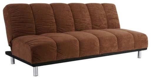 Black Faux Leather Sleeper Sofa With White Mattress Near Fireplace Bed Matt
