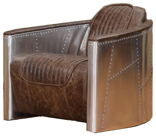 Aviator White Leather Sofa: Aviator Vintage Coco Brown Leather Chair