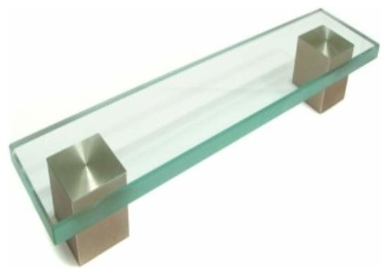 Richelieu contemporary metal glass pull 160mm nickel glass contemporary cabinet and drawer - Contemporary cabinet pulls ...