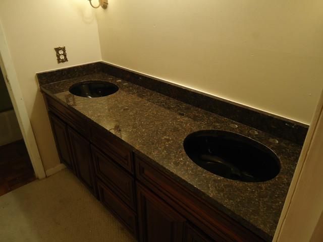 Vanity Side Splash : Granite traditional vanity tops and side splashes