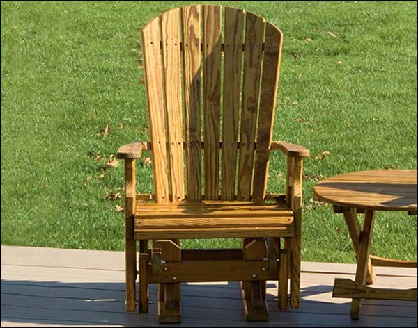 Treated Pine Fanback Single Glider contemporary-rocking-chairs