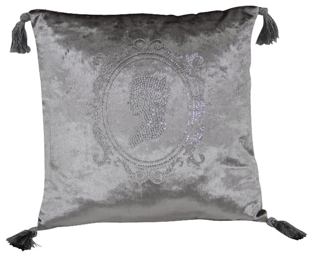 Modern Silver Pillows : Modrest Silver Faux Crystal Throw Pillow, Silver - Contemporary - Decorative Pillows - other metro