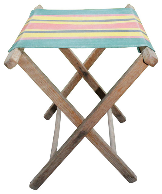 Rustic Camp Stool eclectic-chairs