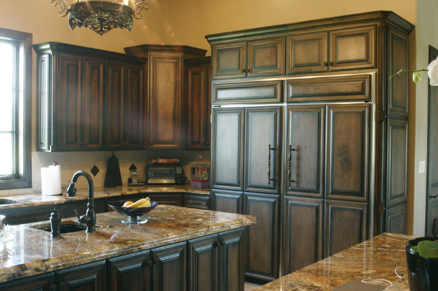 09 458 Stain Grade White Maple Wood Traditional Kitchen Cabinetry