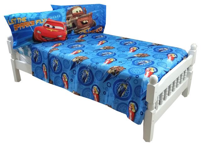 disney cars full bed sheet set city limits bedding contemporary kids bedding by obedding. Black Bedroom Furniture Sets. Home Design Ideas